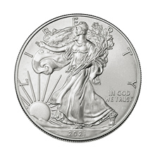 Commemorative Coin Statue Collection Liberty Eagle Silver-Plated American Gift of 40mm-X-3mm