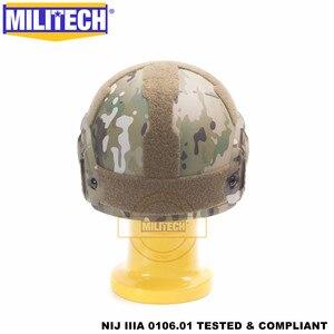 Image 5 - MILITECH баллистический шлем БЫСТРЫЙ MC Deluxe червячный циферблат NIJ уровень IIIA 3A высокой резки ISO сертифицированный Twaron Пуленепробиваемый Шлем DEVGRU