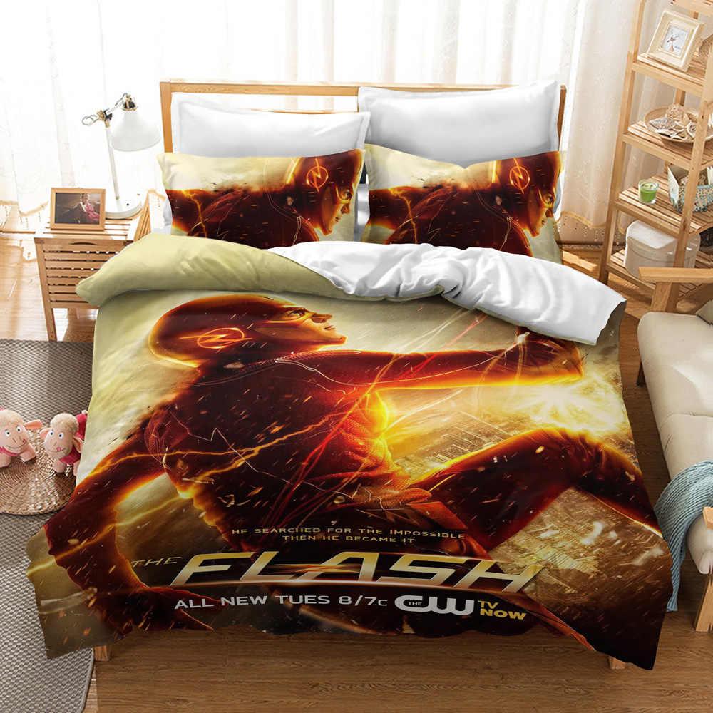 The Flash Bedding Set 3d Cartoon Duvet Cover Pillowcase Set Comfortable Bedclothes For Home Bedroom Decor Twin Full Queen King Aliexpress