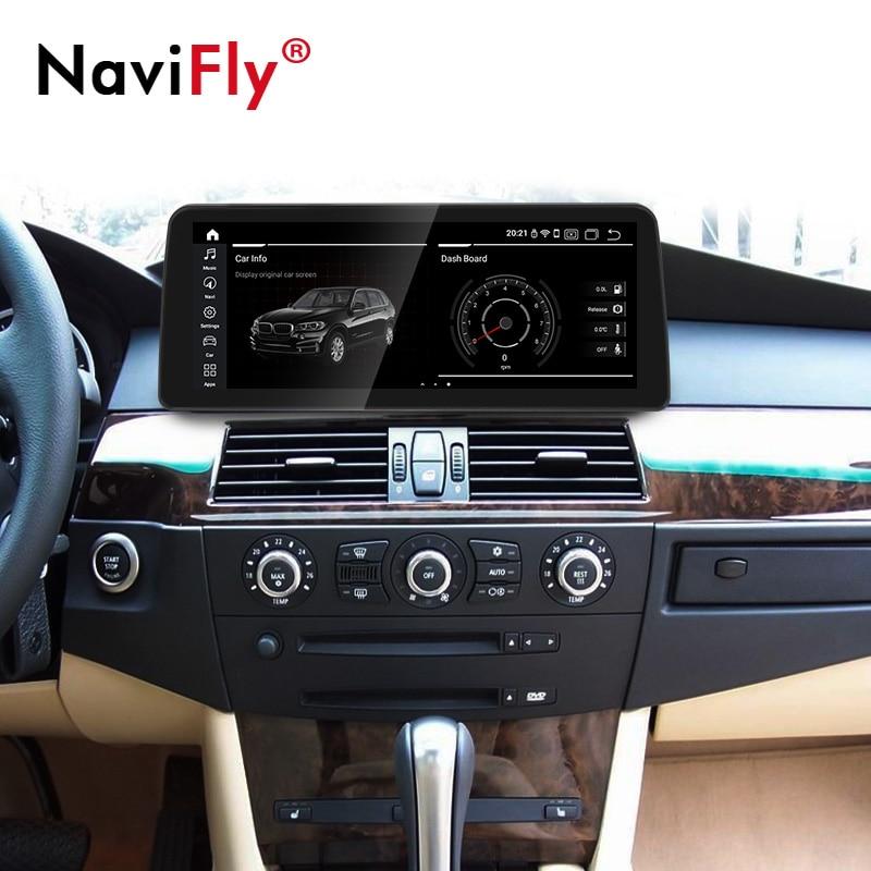 Reproductor multimedia con GPS para coche, Radio con Android 10, 12,3 pulgadas, CarPlay, WIFI, CCC, CIC, iDrive, para BMW serie 5, E60, E61, E63, E64