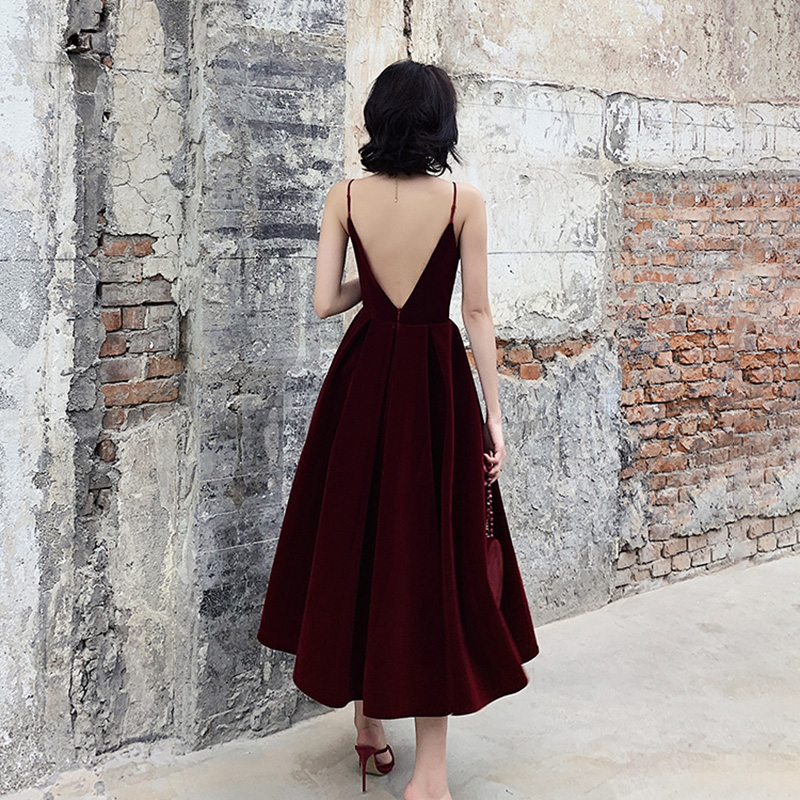 TWOTWINSTYLE Summer Backless Dress For Women V Neck Spaghetti Strap Sleeveless High Waist Sexy Party Dresses Female 2020 Fashion 3