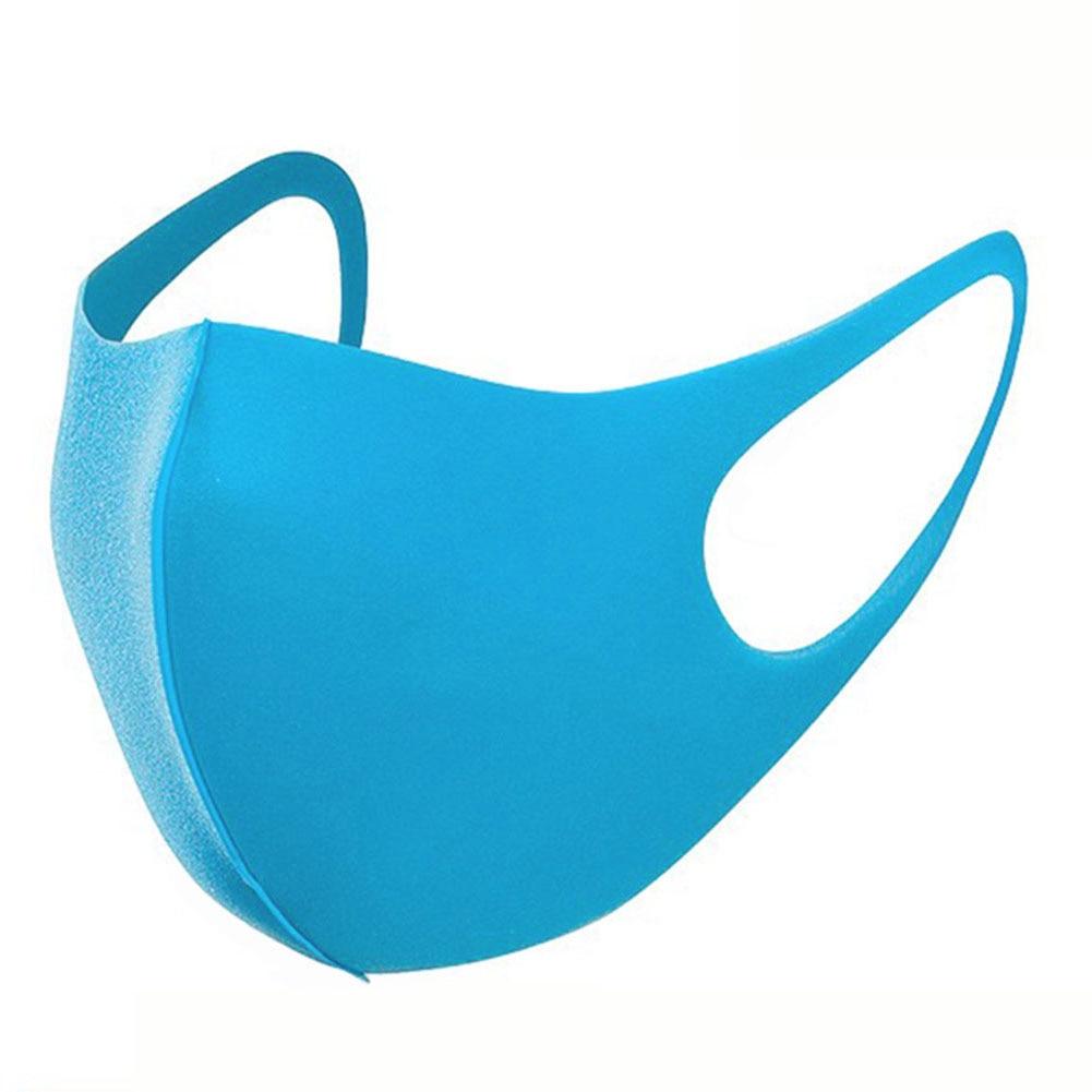 PU Sponge PM2.5 Mouth Cover Children Washable Dustproof Respirator Anti-Dust Proof Flu Face Mask (Blue)