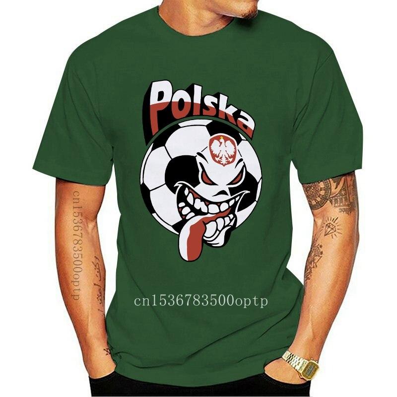 Tshirt Brand 2018 Male Short Sleeve Sleeve Tee Shirt Homme Tshirt T Shirt Polska Poland Soccers Fans T Shirt