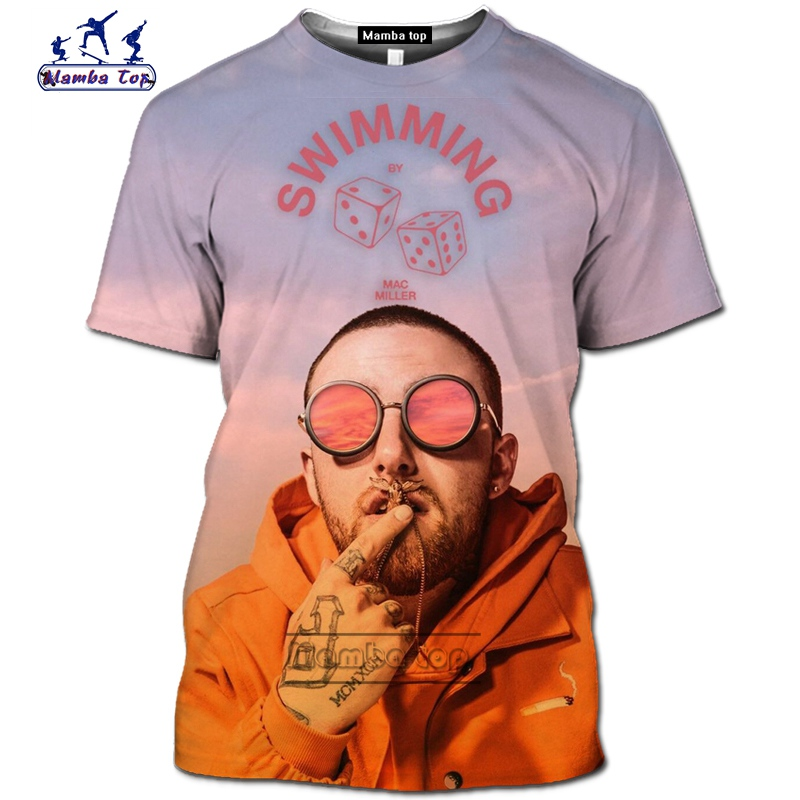 Star mac miller Plus size Women Men T-Shirt 3D Print Short Sleeve Tee Tops