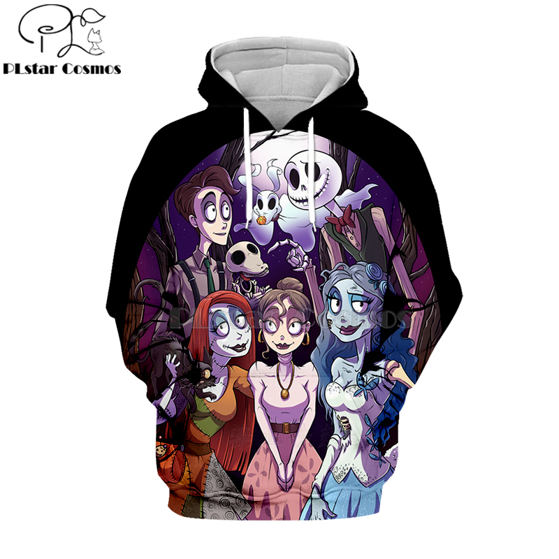 PLstar Cosmos jack skellington Jack Sally 3d hoodies shirt Sweatshirt Winter Nightmare Before Christmas Halloween streetwear 43 in Hoodies amp Sweatshirts from Men 39 s Clothing