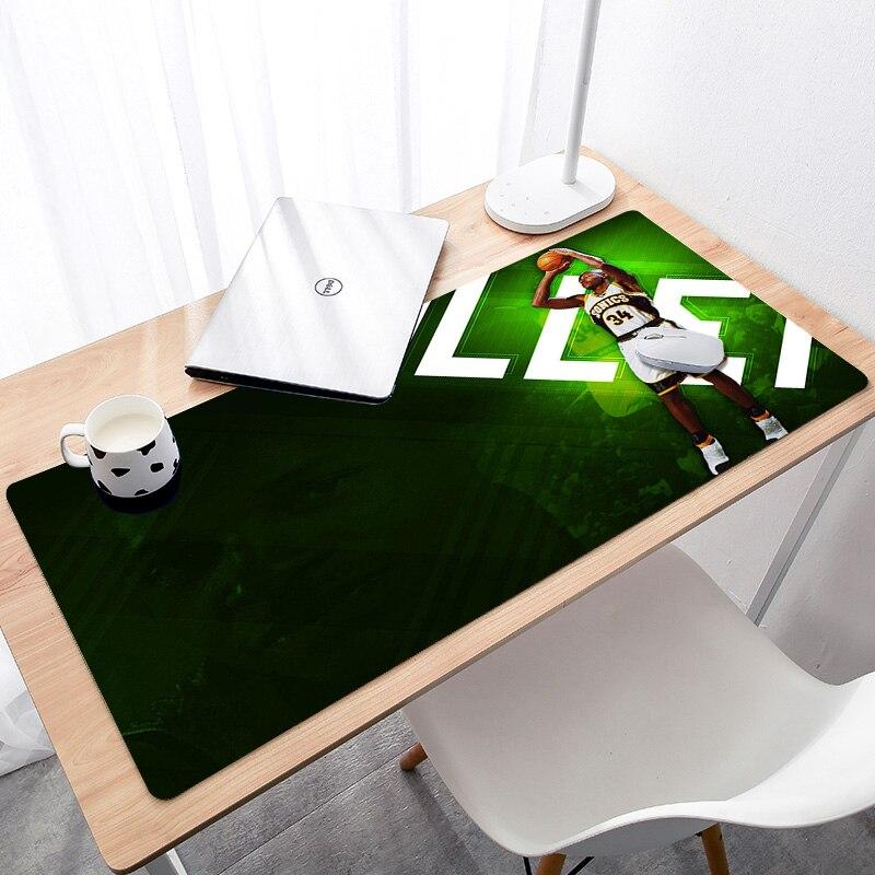 Большой игровой коврик для мыши Коврик для мыши с блокирующим краем, коврик для мыши, расширенный для ноутбука, баскетбольная звезда-0