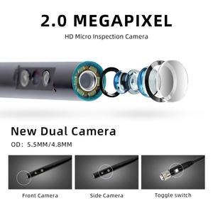 Image 3 - WDLUCKY אנדוסקופ מצלמה 4.3 אינץ תעשייתי כף יד borescope 3.9 5.5 MM HD 1080P כפולה עדשת נחש רכב כלי מצלמה