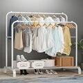 Простая вешалка для одежды  домашняя напольная вешалка для одежды  вешалка для одежды  складная вешалка для спальни  подтягивающая сушилка ...