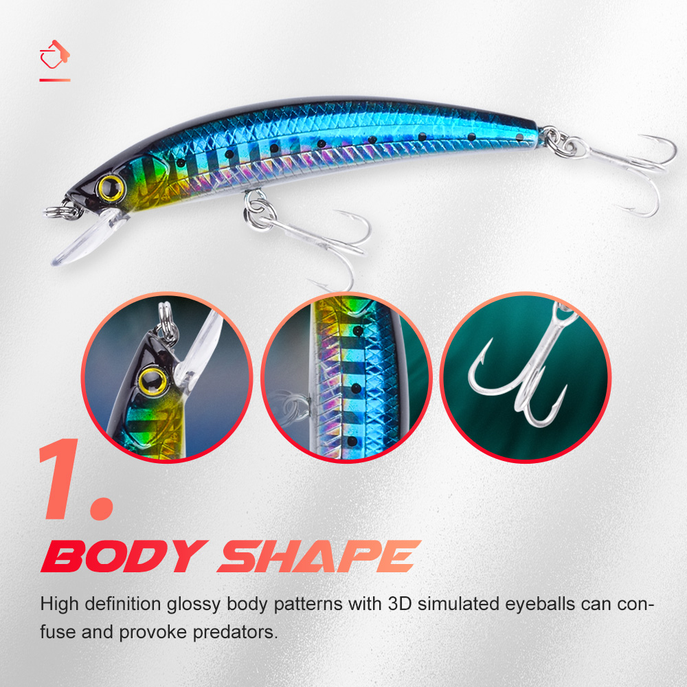 Evercatch ghosts sinking minnow rattling jerkbait fake fish artificial chatterbait for bass pike perch trout fishing tackle lure-2