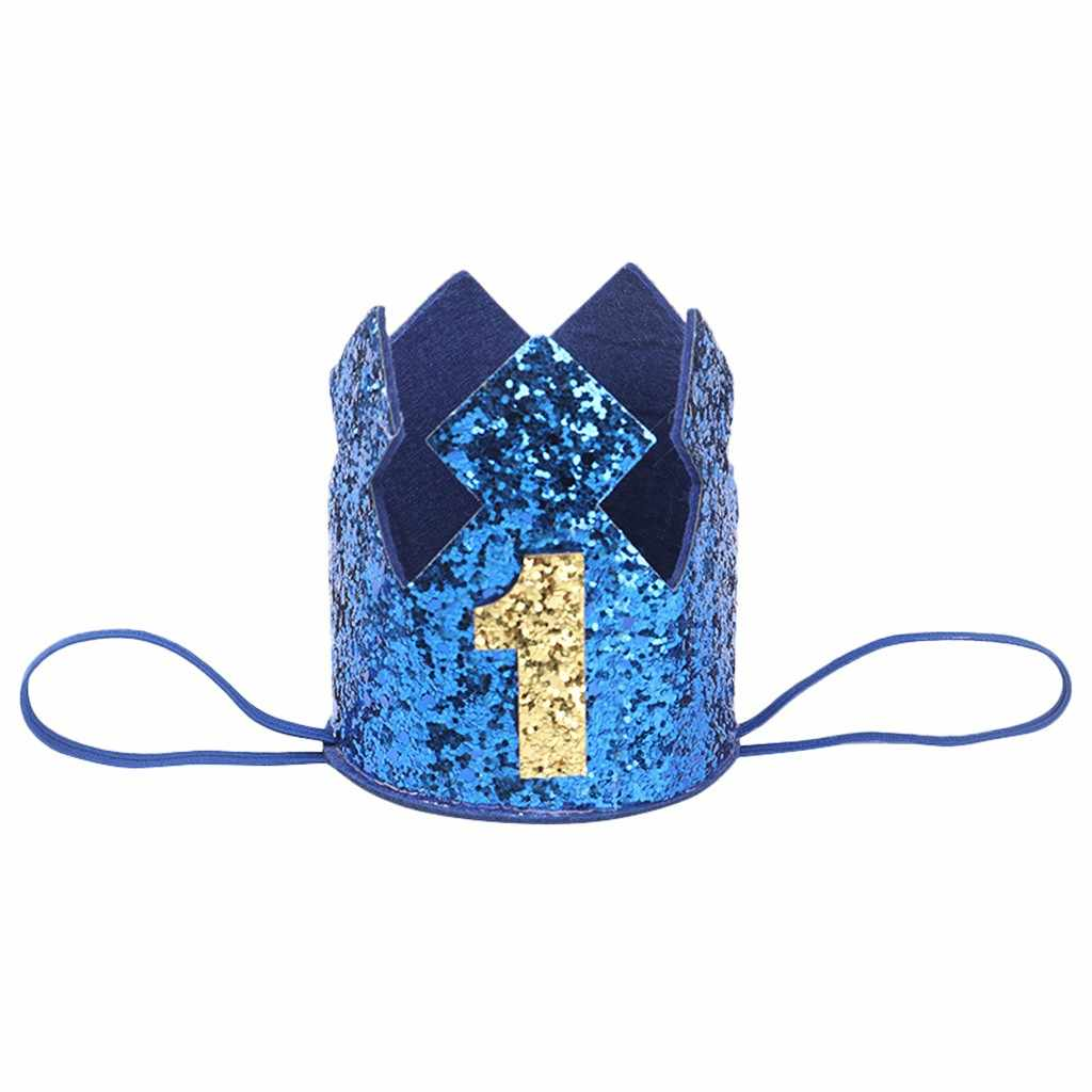 Peuter Verjaardag Hoeden Een Eerste Baby Verjaardag Hoed Pailletten Prinses Crown Cap Meisjes Verjaardagsfeestje Accessoires Voor 1-3 jaar Oud