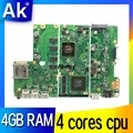Akemy X441SC материнская плата для ноутбука ASUS X441S X441SA F441S A441S Mianboard test work 100% N3160 cpu 4 Гб ram