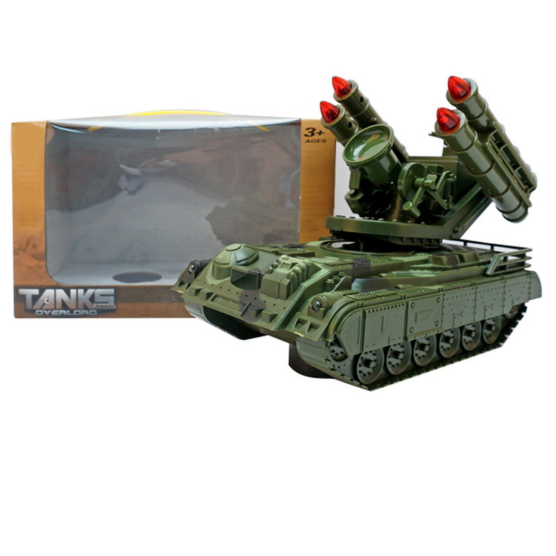 Children Electric Tank Toy Shining Music Model Car Universal Sound-And-Light Tank Shining Tank