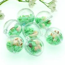 лучшая цена 5PCS 29mm Summer Trendsetting Fresh Green Seashell Ball Charms|Baby Shower Party Crafting|Party Hoilday Decoration
