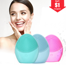 New Mini Battery Electric Face Cleansing Brush Tool Silicone Cleaner Deep Pore Waterproof Beauty Soft Cleaning Brushes