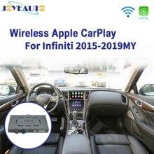Jogo airplay do carro de wifi do espelho do carro do andróide q60 q50l qx50 para a tela 2015 2019 de 8 polegadas de infiniti
