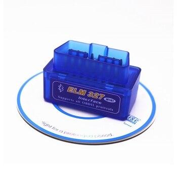 TOOPAI Mini Bluetooth ELM327 OBDII samochodowy skaner diagnostyczny OBD2 współpracuje z androidem/Windows