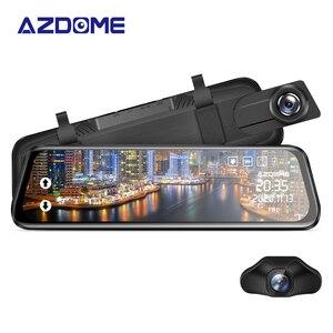 "Image 1 - AZDOME PG02 Night Vision Car Dvr Camera Rearview 10"" Streaming Media Mirror Video Recorder Camcorder Dash Cam FHD 1080P dual len"