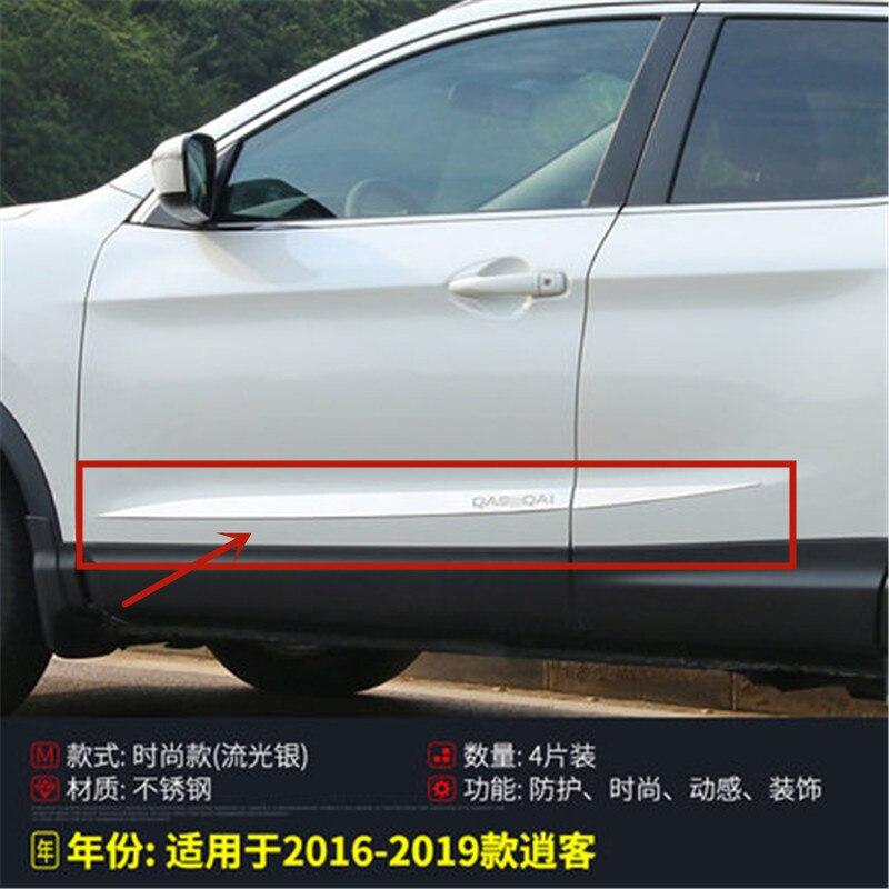 Di alta qualità in acciaio inox auto del corpo modanature laterali porta laterale decorazione per Nissan Qashqai j11 2016 2017 2018 2019 auto styling