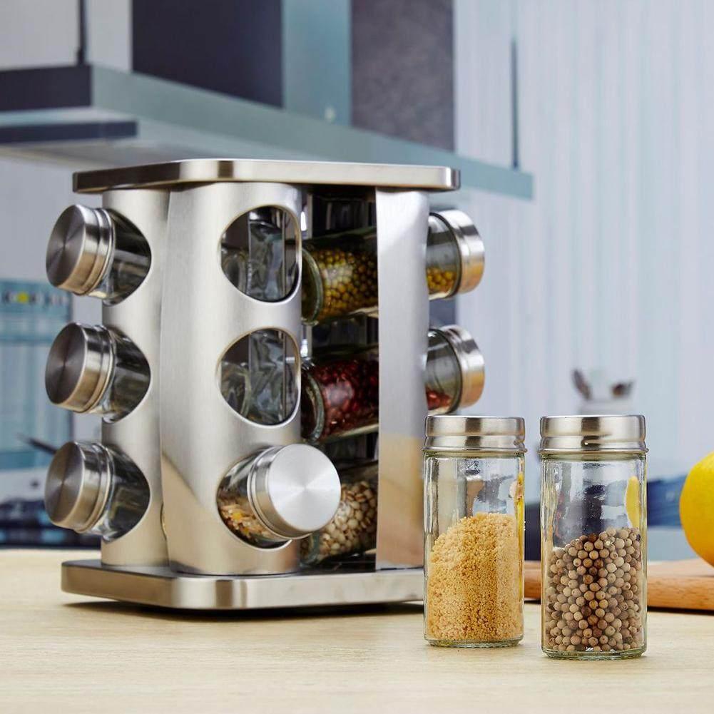 Kottao. NATURAL LOGISTICS Especiero Giratorio para Cocina con 20 frascos