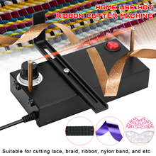 Home Use Hot Ribbon Cutter Machine DIY Rope Band Craft DIY Manual Cut Tool Hot Rope Electromechanical Thermal Cutter