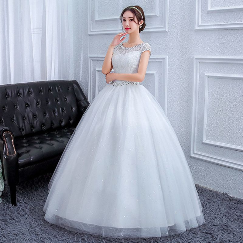 Sequins Wedding Gown Bride Dress Lace Plus Size Wedding Dress Vestido De Noiva  WED90575