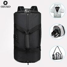OZUKO новая вместительная мужская дорожная сумка для костюма, сумка для хранения, походная сумка для путешествий с карманом для обуви, многофункциональная деловая ручная сумка для багажа