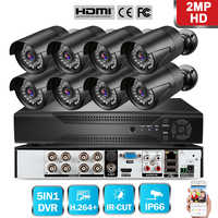 720P/1080P AHD Security Camera DVR CCTV Camera System With 8PCS Weatherproof Outdoor Camera US/UK/EU Plug