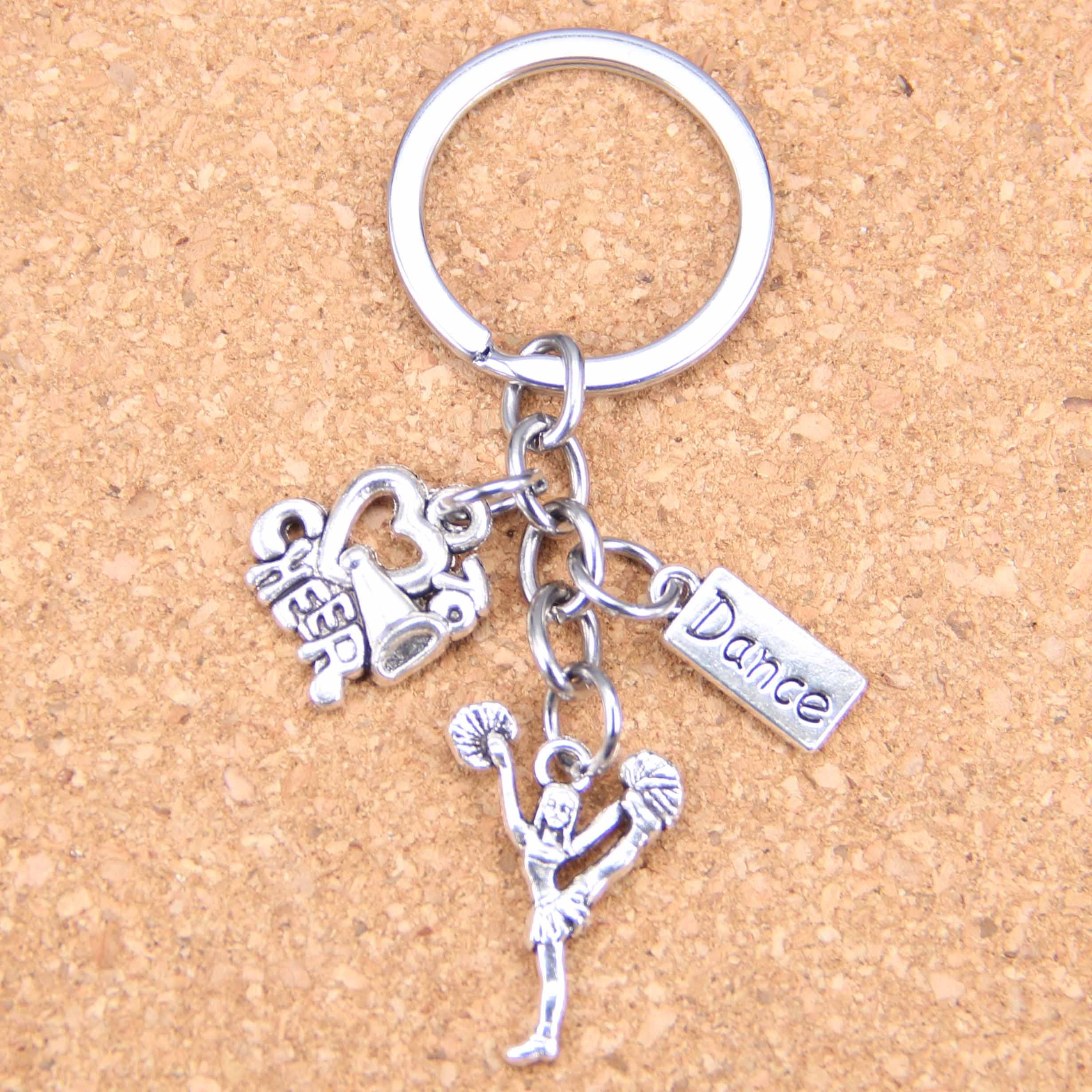 Objective 20pcs New Fashion Diy Keychain Cheerleaders Cheering Dance Pendants Men Jewelry Car Key Chain Souvenir For Gift