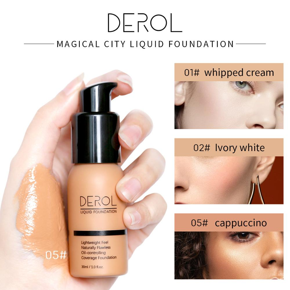 DEROL 30ml Mineral Touch Whitening Concealer Facial Base Makeup Cream Brighten Moisturizer Face Liquid Foundation Makeup Primer