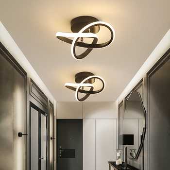 modern led ceiling lights 40 60cm for bedroom cloakroom ceiling lamp aisle corridor balcony lamps white black lighting fixture Modern Led Aisle Light Ceiling Lamp Cloakroom Corridor Balcony Foyer Ceiling Lights Acrylic Decoration Home Lustering Luminaire