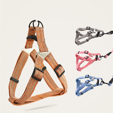 Pet Traction Rope Puppy Breathable Harness Vest with Leash Cat Dog Walking Running Chest Back Strap Small Dogs Collar Lead breathable small dog pet harness and leash set puppy cat vest harness collar for small medium dogs cute safety pet chest straps
