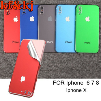 Telefon komórkowy Film Iphone lód Film powrót film mobilna naklejka zmiana koloru Film pełny film dla Iphone 6 6s 7 8 plus X XR XS MAX
