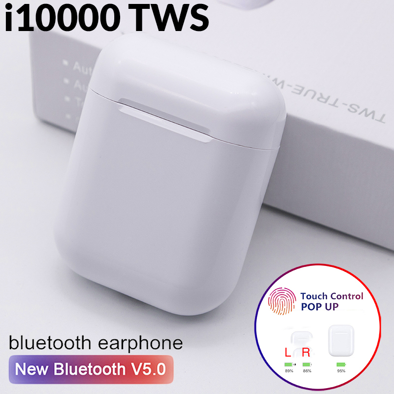 i10000 <font><b>TWS</b></font> 1:1 Replica Wireless Earphones Bluetooth Headset PK i10 i12 i30 i60 i80 i100 i200 i500 i1000 i2000 i9000 <font><b>i9999</b></font> <font><b>TWS</b></font> image