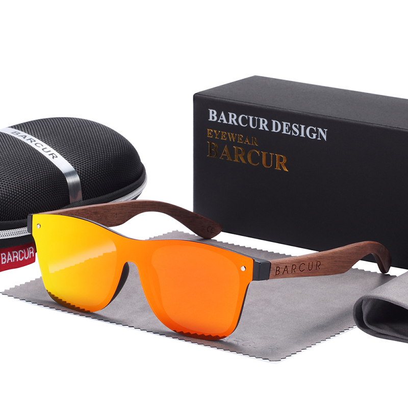 unisex polarized sunglasses red