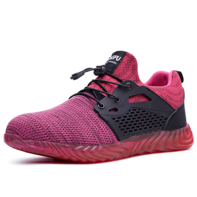 Erkek Iş Güvenliği Ayakkabıları Erkekler Açık Çelik Burunlu Ayakkabı Askeri Savaş yarım çizmeler Yıkılmaz Şık Nefes Sneakers 2019