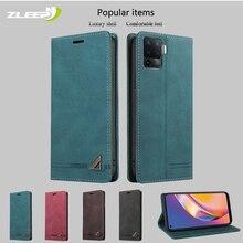 PU Leather Flip Case For OPPO Find X3 A94 A93 A92 73 A72 A53 A52 A15 Realme 7 GT C11 C15 F17 F19 Pro Reno 4 Lite 4Z Phone Cover