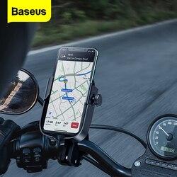 Baseus suporte do telefone da motocicleta bicicleta suporte do telefone móvel para iphone samsung suporte moto montar telefone celular titular