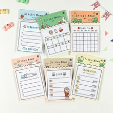 6 designs 30 Sheets Sunny Day Weekly Plan To Do List Sticky Note Memo Pads Stationery Notepad