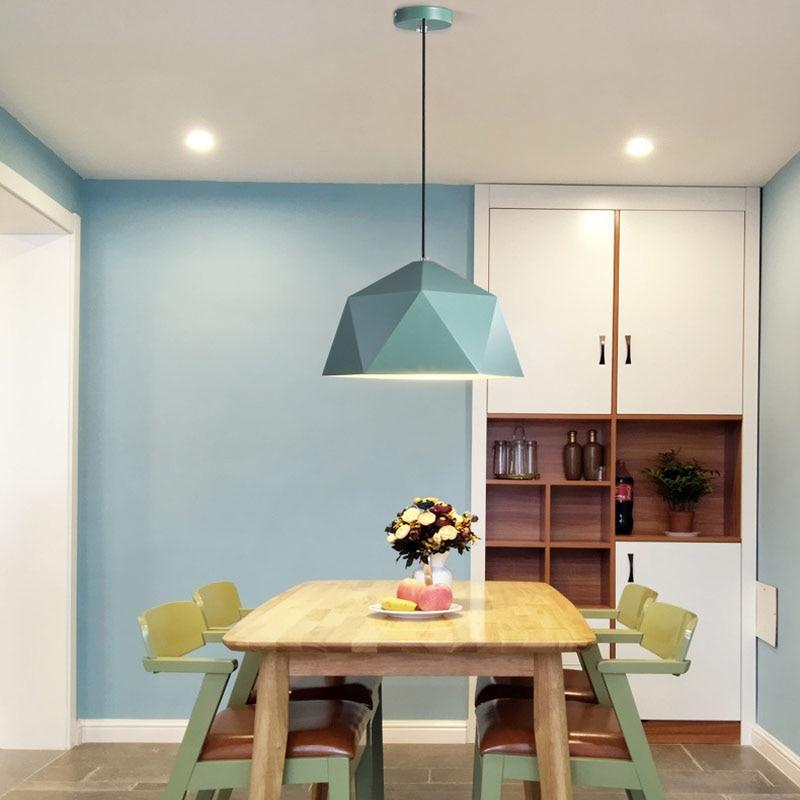 Suspension lumières coloré nordique suspension lampe nordique vintage lampe loft décor design moderne salle à manger cuisine luminaire led - 4