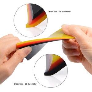 Image 4 - FOSHIO 2/5 sztuk miękkie PPF owijania ściągaczka Carbon Fiber Vinyl Wrap samochodów Film narzędzie do wklejania 2in1 skrobak okno barwienia Auto do czyszczenia