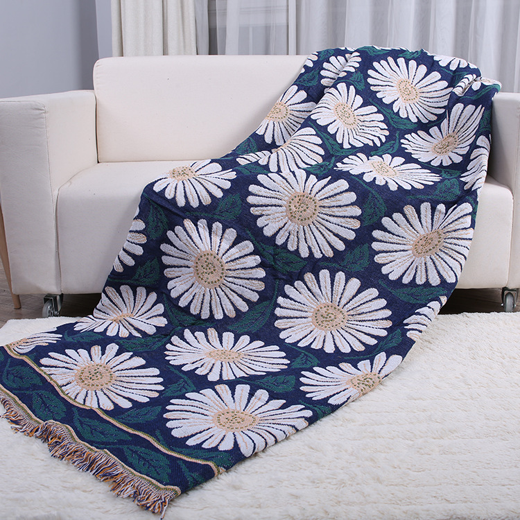 Household Thick Cotton Thread Blanket Sofa Cover Sofa Cover Airable Blanket Bed Blanket Batch