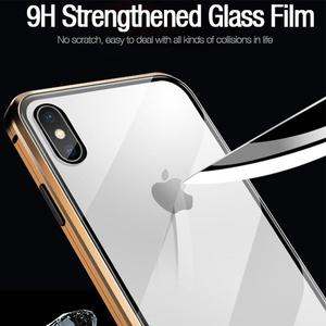 Image 5 - Magnetic Adsorption Tempered Glass Privacy Metal Phone Case Coque 360 Magnet Antispy Cover for iPhone XR XS X 11 Pro Max 8 7 6s