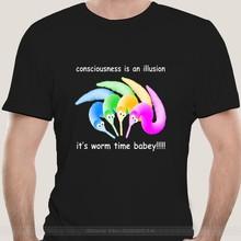 A morte é inevitável worm mágico em uma corda meme camiseta t eua coton tendência de alta qualidade casual impressão camiseta
