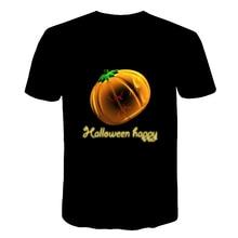 Kids T-shirt Top Pumpkin Shirt Girl Boys Graphic Halloween Pumpkin Tee Tshirt Harajuku Causal 3D Tops Tees Shirt Drop Shipping sequined elk graphic drop shoulder tee