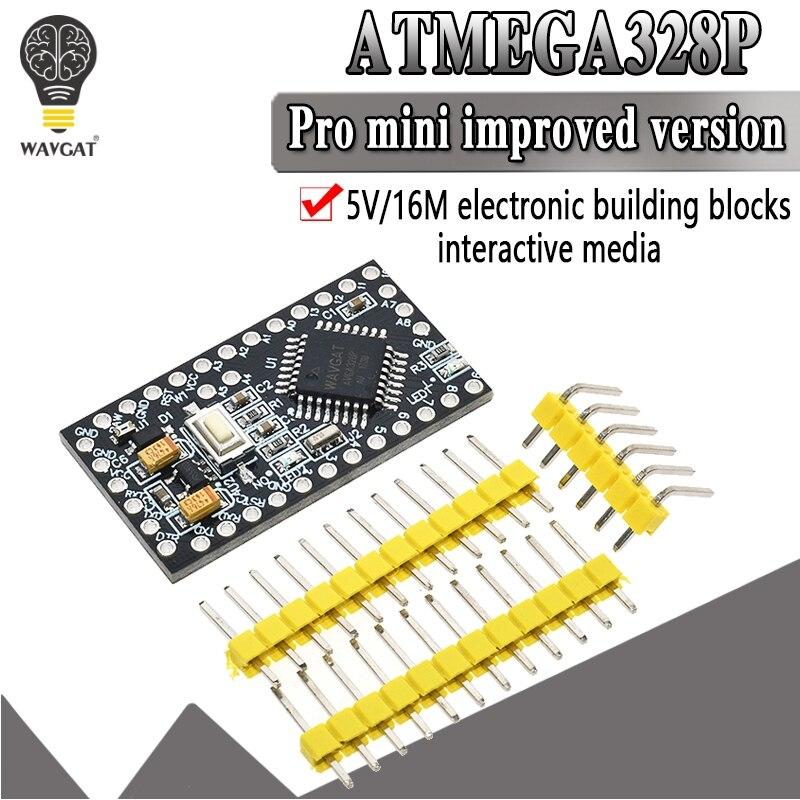 WAVGAT Pro Mini ATMEGA328P 328 Mini ATMEGA328 5V 16MHz dla arduino Nano mikrosterowanie mikro płyta sterowania