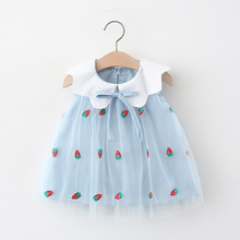 Baby Dress Outfit Strawberry Embroidered Summer Infant New Mesh Melario Sweet for 6M