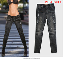 Motorcycle Europe And America WOMEN 'S jeans with Holes Slim Fit Elasticity Slimming Women 's Cowboy Pants Skinny Pants maggie carpenter cowboy s rules