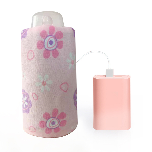 Portable USB Milk Water Warmer Travel Stroller Insulated Bag Quickly Baby Nursing Bottle Heater Infant Food Milk Outdoor Cup