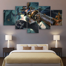5 Panel Canvas Printed Arena of Valor Game Poster Modern Home Decor For Living Room Painting Artwork Pictures Cuadros Framework