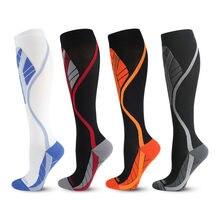Homens/mulheres dropship meias de compressão meias pacote unisex meias esportivas lote evitar varizes enfermeira meias futebol corrida